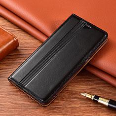 Coque Portefeuille Livre Cuir Etui Clapet L02 pour Motorola Moto E7 Plus Noir