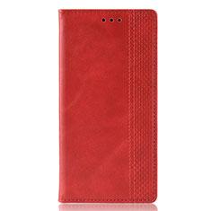 Coque Portefeuille Livre Cuir Etui Clapet L02 pour Motorola Moto Edge Plus Rouge
