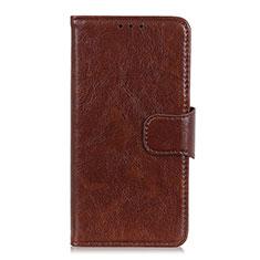 Coque Portefeuille Livre Cuir Etui Clapet L02 pour Motorola Moto G 5G Marron