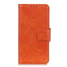Coque Portefeuille Livre Cuir Etui Clapet L02 pour Motorola Moto G 5G Orange