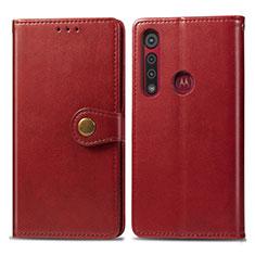 Coque Portefeuille Livre Cuir Etui Clapet L02 pour Motorola Moto G8 Play Rouge