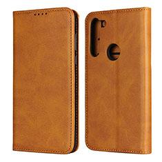 Coque Portefeuille Livre Cuir Etui Clapet L02 pour Motorola Moto G8 Power Orange