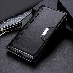 Coque Portefeuille Livre Cuir Etui Clapet L02 pour Motorola Moto One Fusion Noir