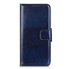 Coque Portefeuille Livre Cuir Etui Clapet L02 pour Motorola Moto One Fusion Plus Bleu