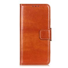Coque Portefeuille Livre Cuir Etui Clapet L02 pour Motorola Moto One Fusion Plus Orange