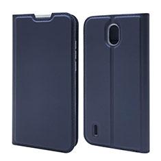 Coque Portefeuille Livre Cuir Etui Clapet L02 pour Nokia 1.3 Bleu