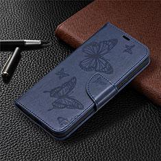 Coque Portefeuille Livre Cuir Etui Clapet L02 pour Nokia 3.4 Bleu