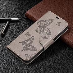 Coque Portefeuille Livre Cuir Etui Clapet L02 pour Nokia 3.4 Gris