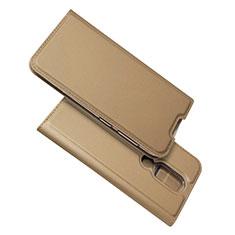 Coque Portefeuille Livre Cuir Etui Clapet L02 pour Nokia 4.2 Or