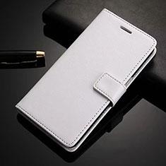Coque Portefeuille Livre Cuir Etui Clapet L02 pour Nokia 6.1 Plus Blanc