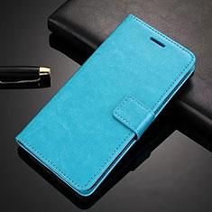 Coque Portefeuille Livre Cuir Etui Clapet L02 pour Nokia 6.1 Plus Bleu Ciel