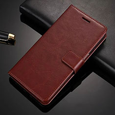 Coque Portefeuille Livre Cuir Etui Clapet L02 pour Nokia 6.1 Plus Marron