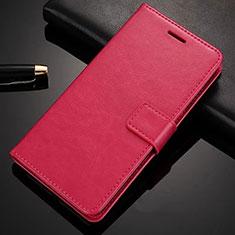 Coque Portefeuille Livre Cuir Etui Clapet L02 pour Nokia 6.1 Plus Rose Rouge