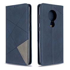 Coque Portefeuille Livre Cuir Etui Clapet L02 pour Nokia 6.2 Bleu