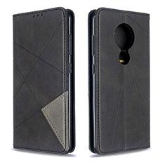 Coque Portefeuille Livre Cuir Etui Clapet L02 pour Nokia 6.2 Noir