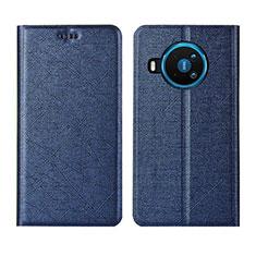 Coque Portefeuille Livre Cuir Etui Clapet L02 pour Nokia 8.3 5G Bleu