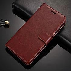 Coque Portefeuille Livre Cuir Etui Clapet L02 pour Nokia X6 Marron