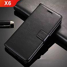 Coque Portefeuille Livre Cuir Etui Clapet L02 pour Nokia X6 Noir