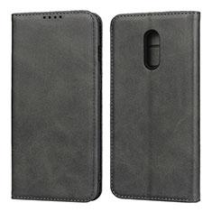 Coque Portefeuille Livre Cuir Etui Clapet L02 pour OnePlus 7 Noir