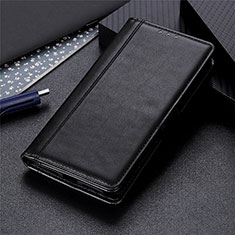Coque Portefeuille Livre Cuir Etui Clapet L02 pour Oppo A15 Noir