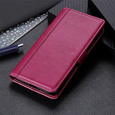 Coque Portefeuille Livre Cuir Etui Clapet L02 pour Oppo A15 Rouge