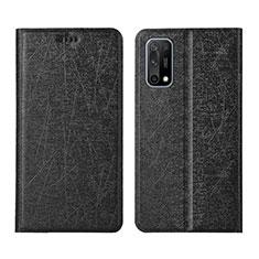 Coque Portefeuille Livre Cuir Etui Clapet L02 pour Oppo K7x 5G Noir