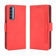 Coque Portefeuille Livre Cuir Etui Clapet L02 pour Oppo Reno4 Pro 4G Rouge