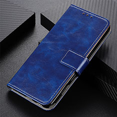 Coque Portefeuille Livre Cuir Etui Clapet L02 pour Realme 5 Pro Bleu