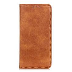 Coque Portefeuille Livre Cuir Etui Clapet L02 pour Samsung Galaxy A01 Core Orange