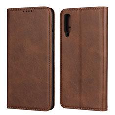 Coque Portefeuille Livre Cuir Etui Clapet L02 pour Samsung Galaxy A30S Marron