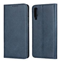 Coque Portefeuille Livre Cuir Etui Clapet L02 pour Samsung Galaxy A50 Bleu