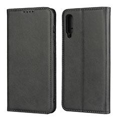 Coque Portefeuille Livre Cuir Etui Clapet L02 pour Samsung Galaxy A50 Noir