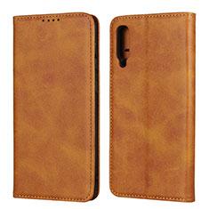 Coque Portefeuille Livre Cuir Etui Clapet L02 pour Samsung Galaxy A50 Orange