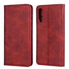 Coque Portefeuille Livre Cuir Etui Clapet L02 pour Samsung Galaxy A50 Rouge