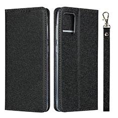 Coque Portefeuille Livre Cuir Etui Clapet L02 pour Samsung Galaxy A51 4G Noir