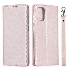 Coque Portefeuille Livre Cuir Etui Clapet L02 pour Samsung Galaxy A51 4G Rose