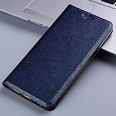 Coque Portefeuille Livre Cuir Etui Clapet L02 pour Samsung Galaxy M60s Bleu