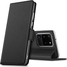 Coque Portefeuille Livre Cuir Etui Clapet L02 pour Samsung Galaxy S20 Ultra 5G Noir