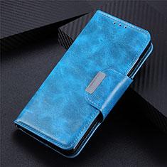 Coque Portefeuille Livre Cuir Etui Clapet L02 pour Samsung Galaxy S21 5G Bleu Ciel