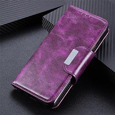 Coque Portefeuille Livre Cuir Etui Clapet L02 pour Samsung Galaxy S21 Ultra 5G Violet