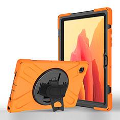 Coque Portefeuille Livre Cuir Etui Clapet L02 pour Samsung Galaxy Tab A7 4G 10.4 SM-T505 Orange