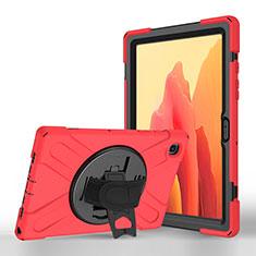 Coque Portefeuille Livre Cuir Etui Clapet L02 pour Samsung Galaxy Tab A7 Wi-Fi 10.4 SM-T500 Rouge