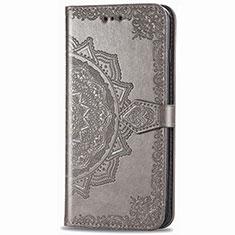 Coque Portefeuille Livre Cuir Etui Clapet L02 pour Samsung Galaxy XCover Pro Gris