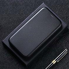 Coque Portefeuille Livre Cuir Etui Clapet L02 pour Sharp AQUOS Sense4 Plus Noir