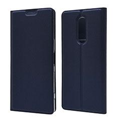 Coque Portefeuille Livre Cuir Etui Clapet L02 pour Sony Xperia 1 Bleu