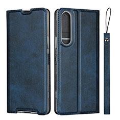 Coque Portefeuille Livre Cuir Etui Clapet L02 pour Sony Xperia 1 II Bleu