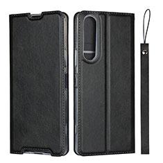 Coque Portefeuille Livre Cuir Etui Clapet L02 pour Sony Xperia 1 II Noir