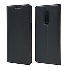 Coque Portefeuille Livre Cuir Etui Clapet L02 pour Sony Xperia 1 Noir