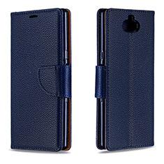 Coque Portefeuille Livre Cuir Etui Clapet L02 pour Sony Xperia 10 Bleu