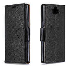 Coque Portefeuille Livre Cuir Etui Clapet L02 pour Sony Xperia 10 Noir